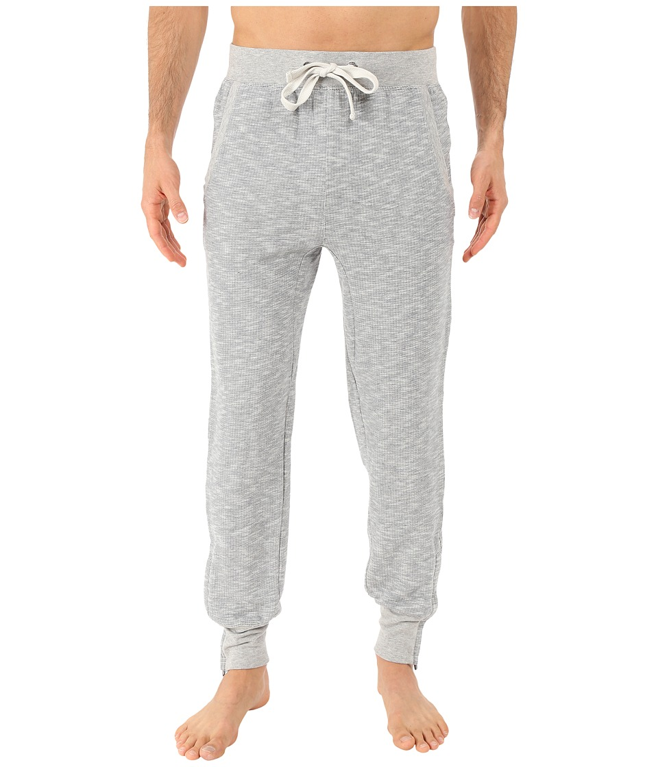 2(X)IST - Textured Lounge 2 Tapered Sweatpants w/ Zipper Cuff (Dusty Heather) Men's Casual Pants