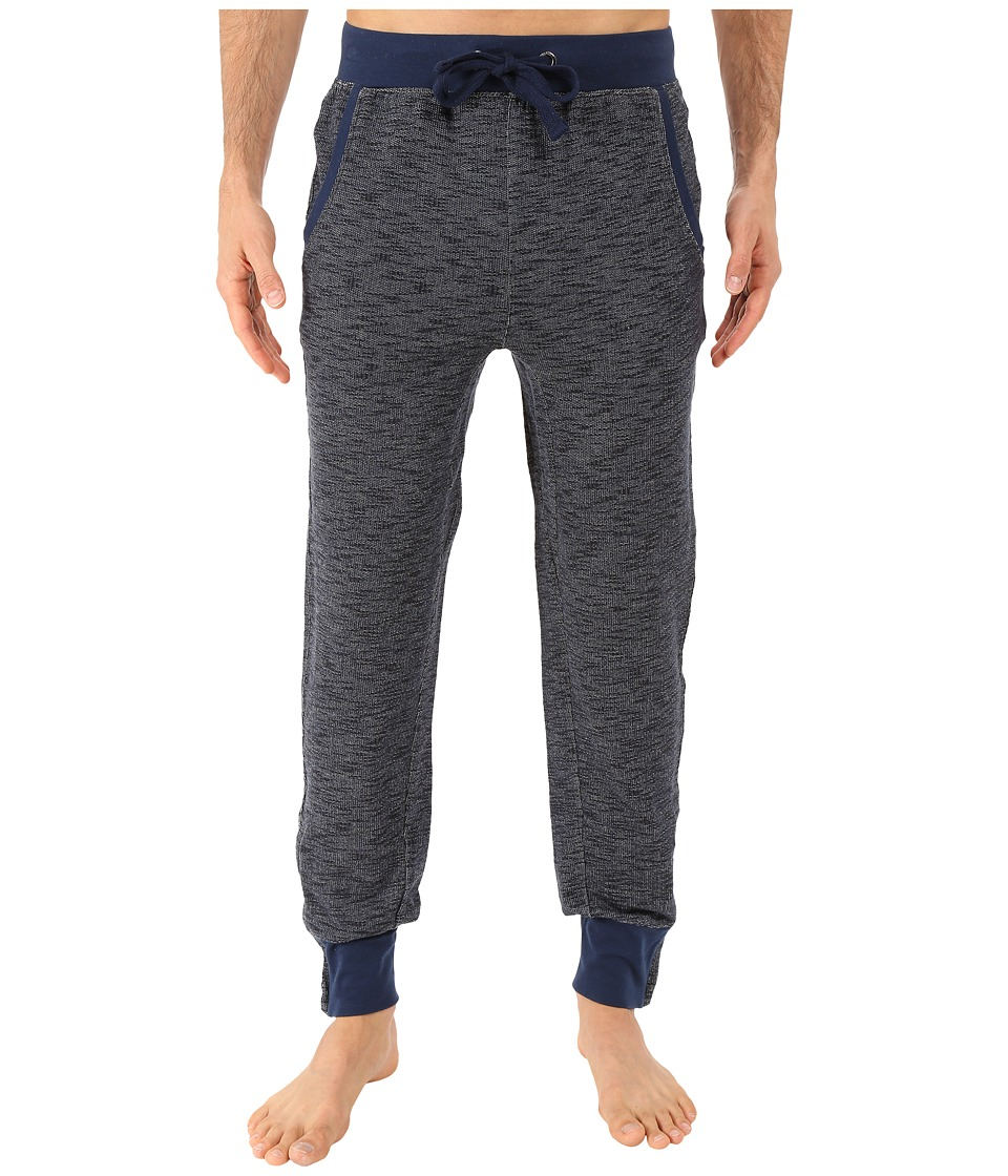 2(X)IST - Textured Lounge 2 Tapered Sweatpants w/ Zipper Cuff (Chambray Heather) Men's Casual Pants