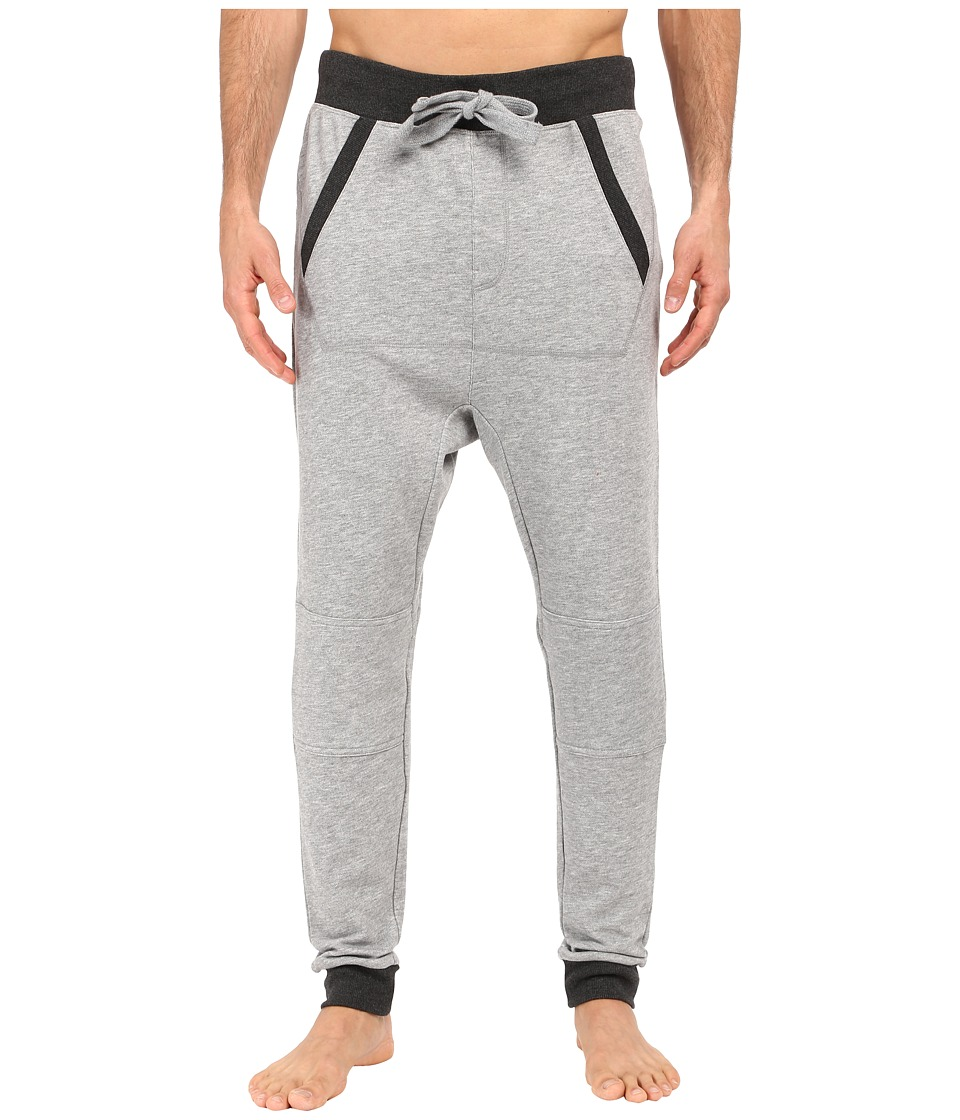 2(X)IST - Active Core Terry Drop Inseam Jogger Pants (Light Grey Heather/Charcoal Heather Trim) Men's Casual Pants