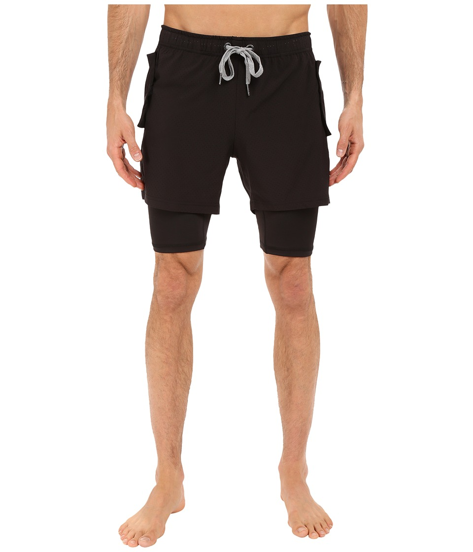 2(X)IST - Modern Sport Mesh Shorts (Black) Men's Shorts