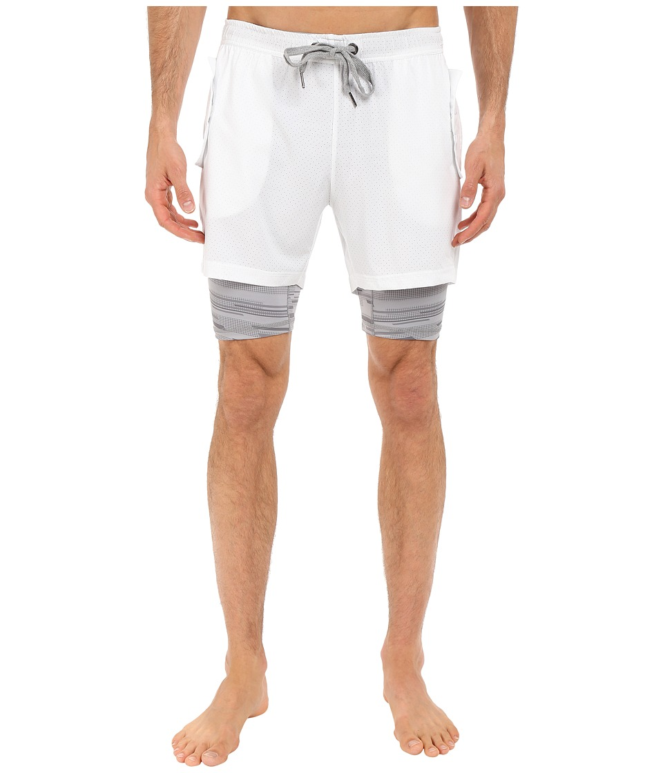 2(X)IST - Modern Sport Mesh Shorts (White) Men's Shorts