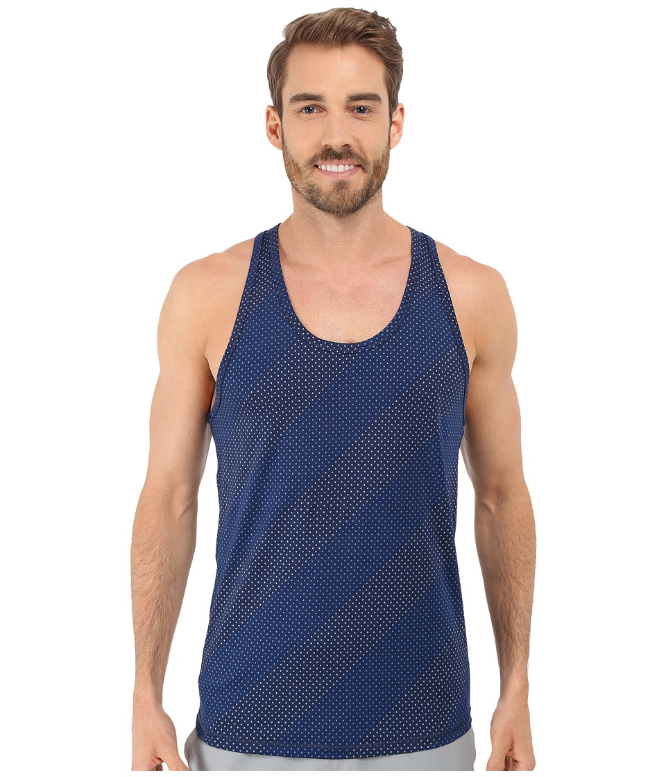 2(X)IST - Trainer Tech Dot Print Racerback Tank Top (Estate Blue Combo) Men's Sleeveless