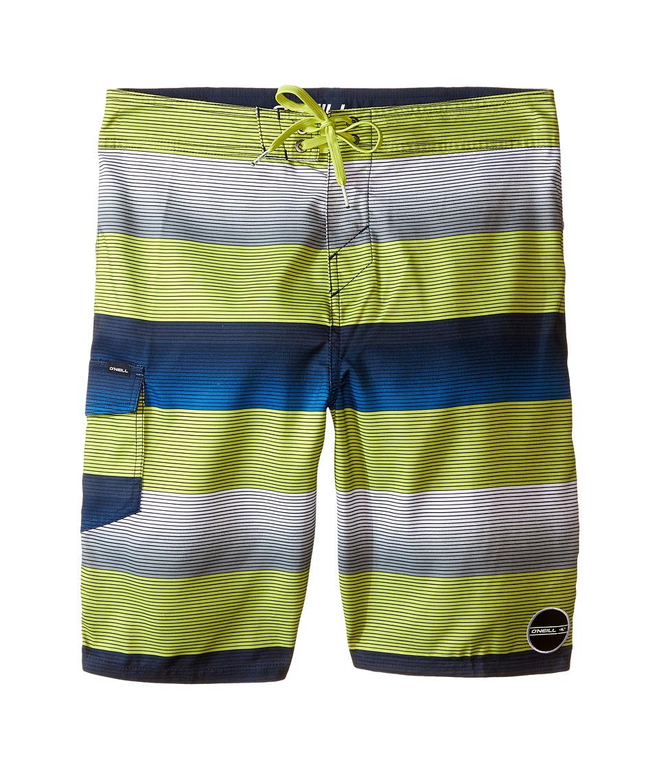 O'Neill Kids - Santa Cruz Stripe Boardshorts (Big Kids) (Lime) Boy's Swimwear