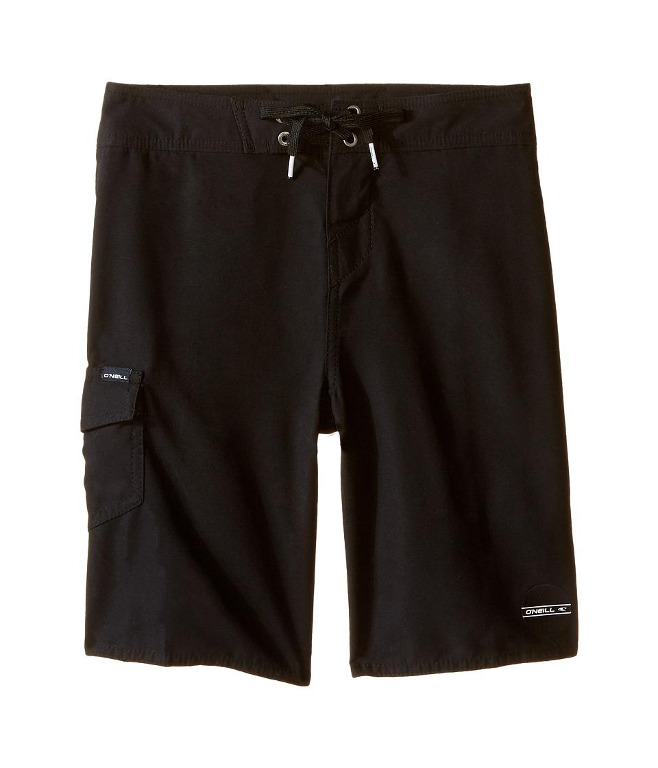 O'Neill Kids - Santa Cruz Solid Boardshorts (Big Kids) (Black) Boy's Swimwear