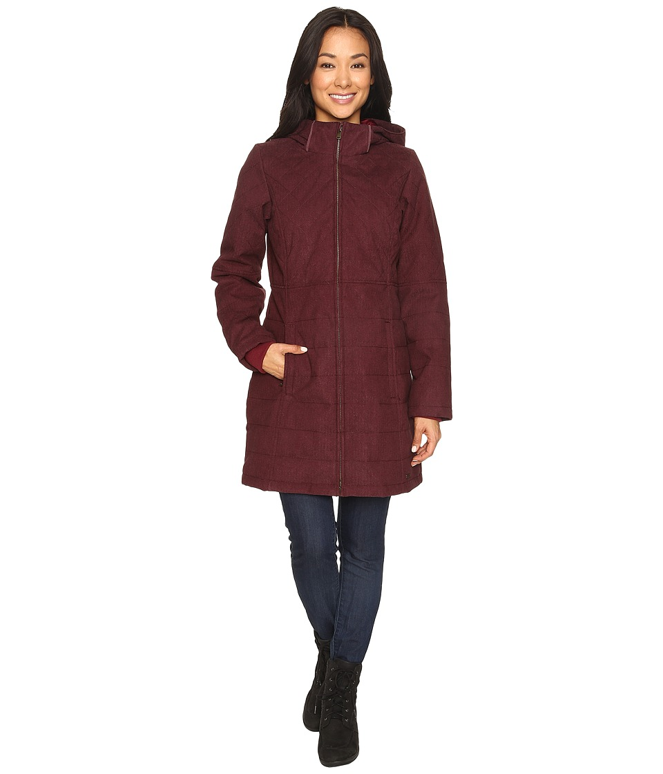 Prana - Inna Jacket (Burgundy) Women's Coat
