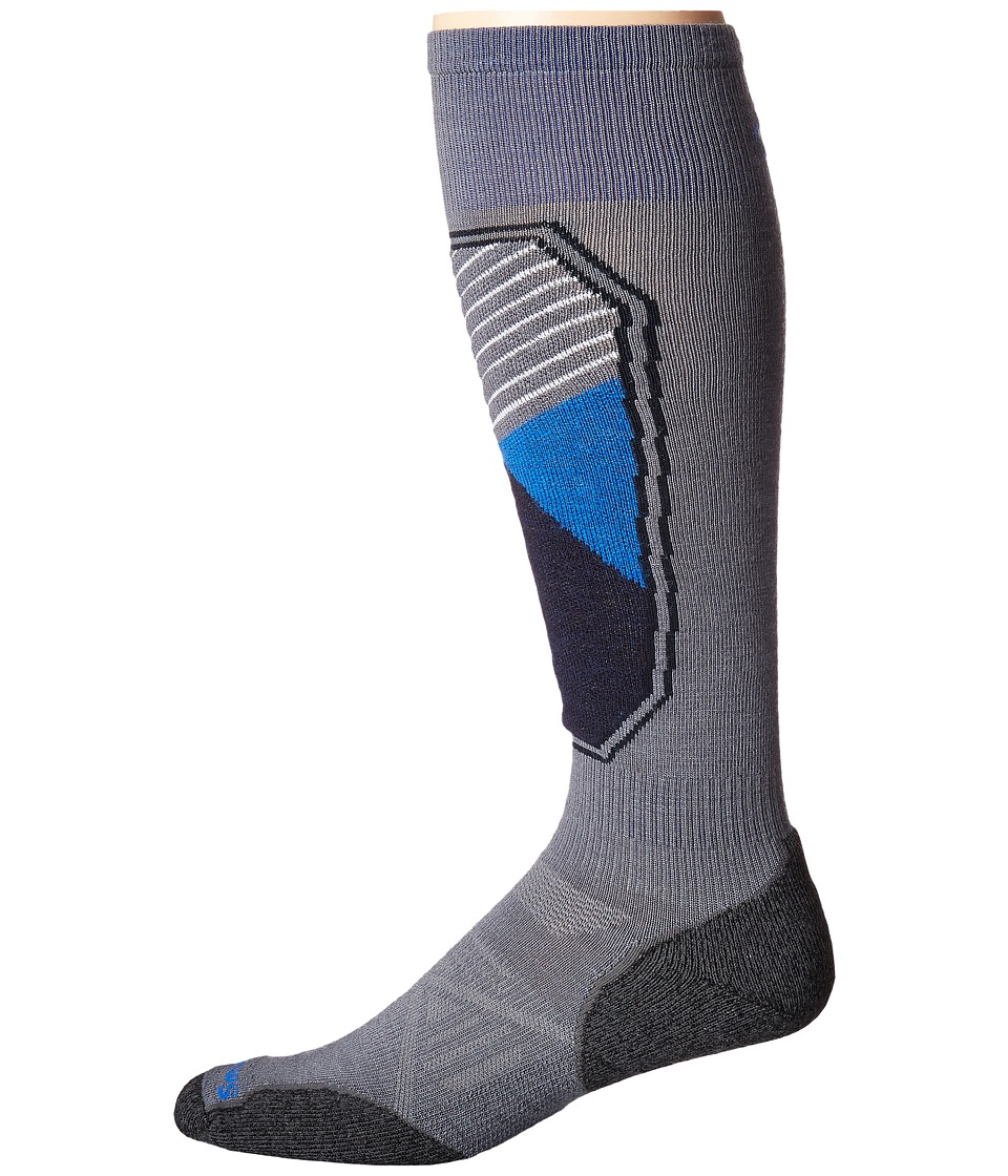Smartwool - PhD Ski Light Pattern (Graphite) Men's Crew Cut Socks Shoes