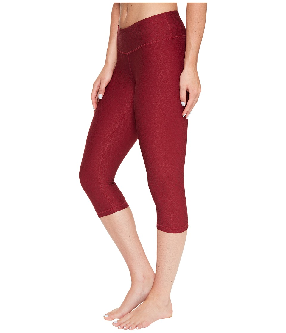 Prana - Misty Knicker (Red Jacquard) Women's Capri