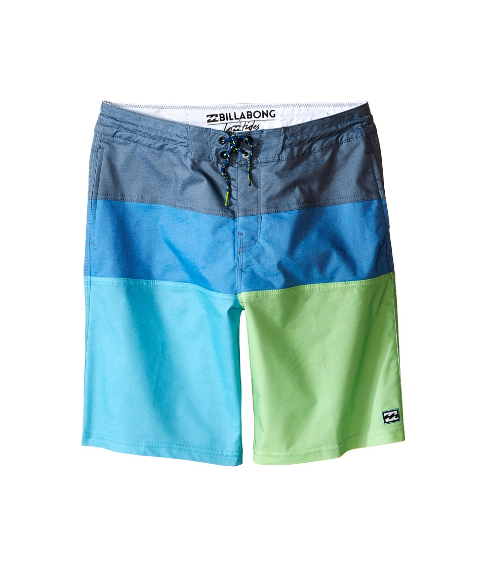 Billabong Kids - Tribong Interchange Lo Tides Boardshorts (Big Kids) (Neo Green) Boy's Swimwear