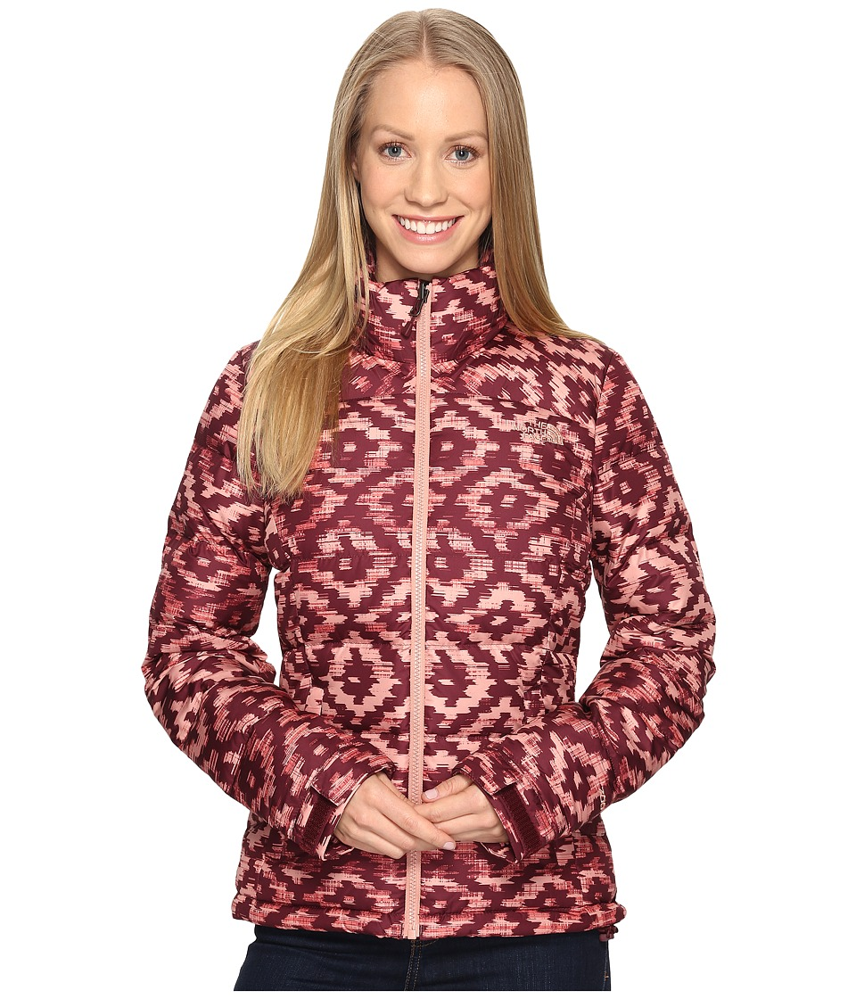The North Face - Nuptse 2 Jacket (Deep Garnet Red D-Kat Print (Prior Season)) Women's Coat