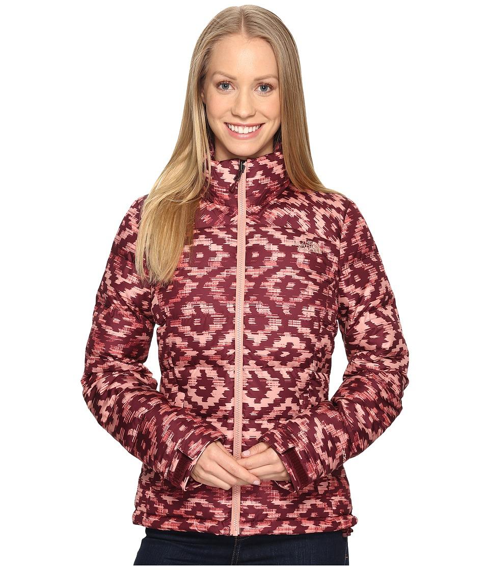 The North Face - Nuptse 2 Jacket (Deep Garnet Red D-Kat Print (Prior Season)) Women's Coat