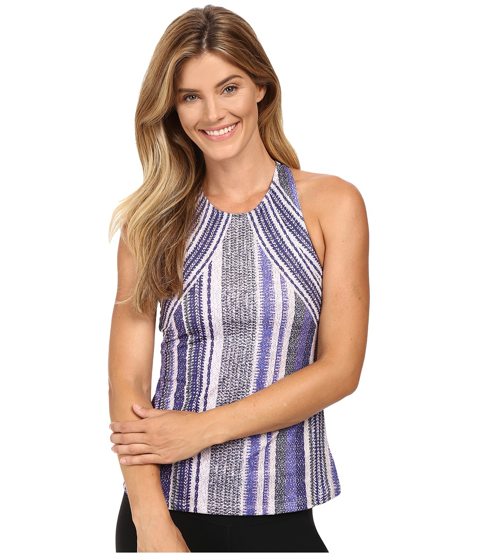 Prana - Boost Printed Top (Blue Knitta) Women's Sleeveless