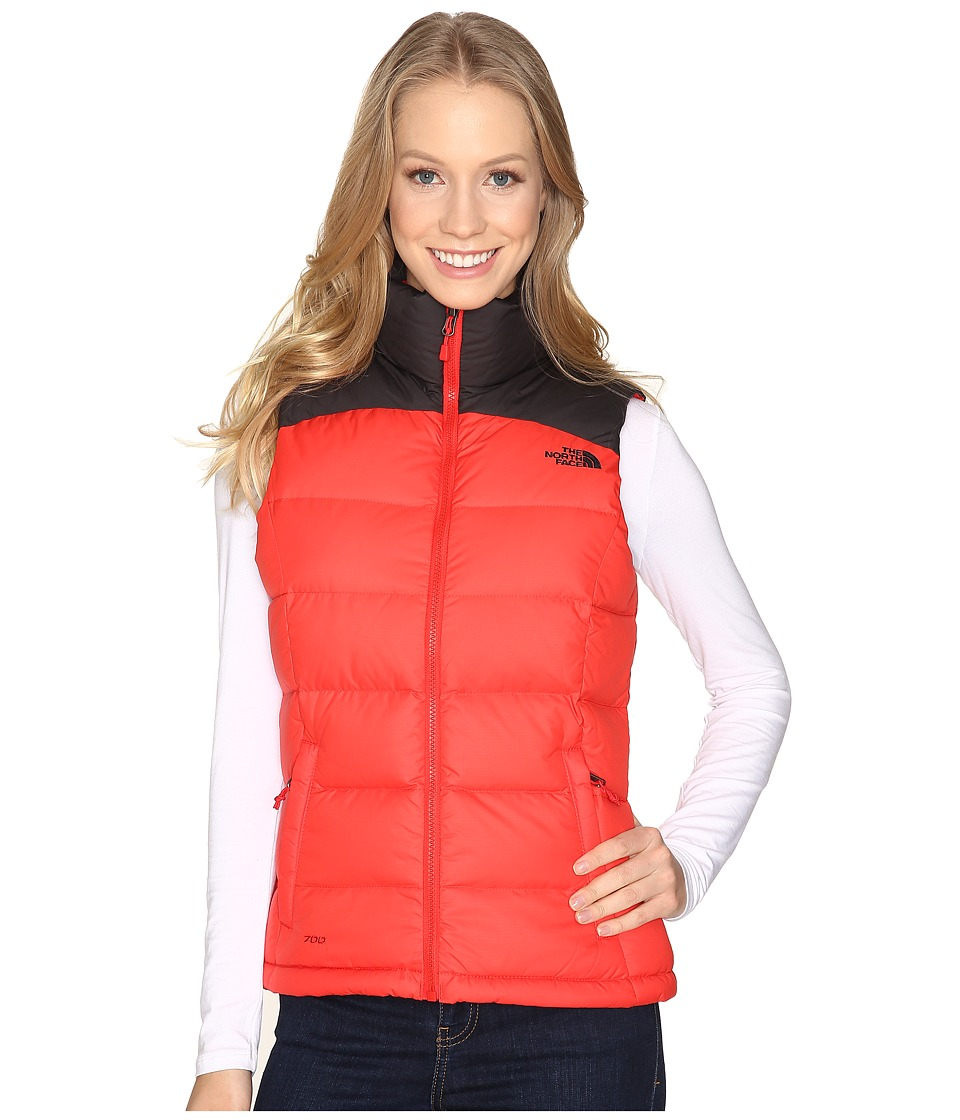 North Face Nuptse 2 Vest (High Risk Red/TNF Black (Prior ...