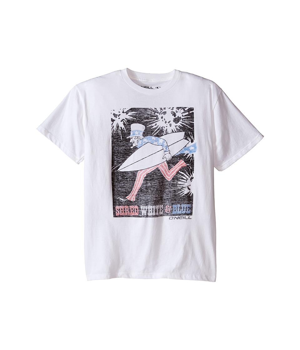 O'Neill Kids - Shred Tee (Big Kids) (White) Boy's T Shirt
