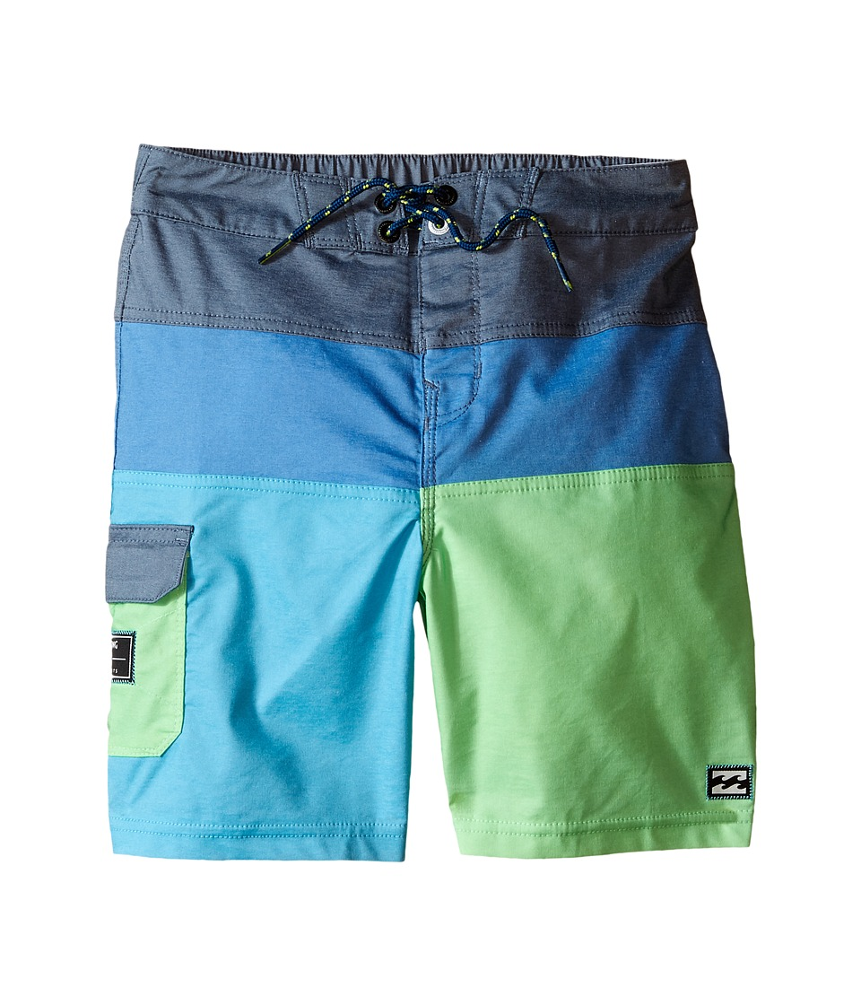 Billabong Kids - Tribong Interchange Lo Tides Boardshorts (Toddler/Little Kids) (Neo Green) Boy's Swimwear