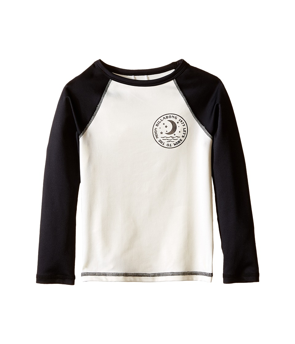 Billabong Kids Sol Searcher Long Sleeve Rashguard (Little Kids/Big Kids) (Black Sands) Girl