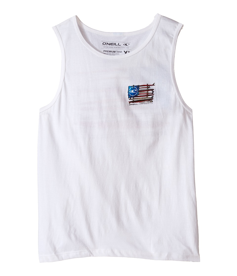 O'Neill Kids - United Tank Top (Big Kids) (White) Boy's Sleeveless