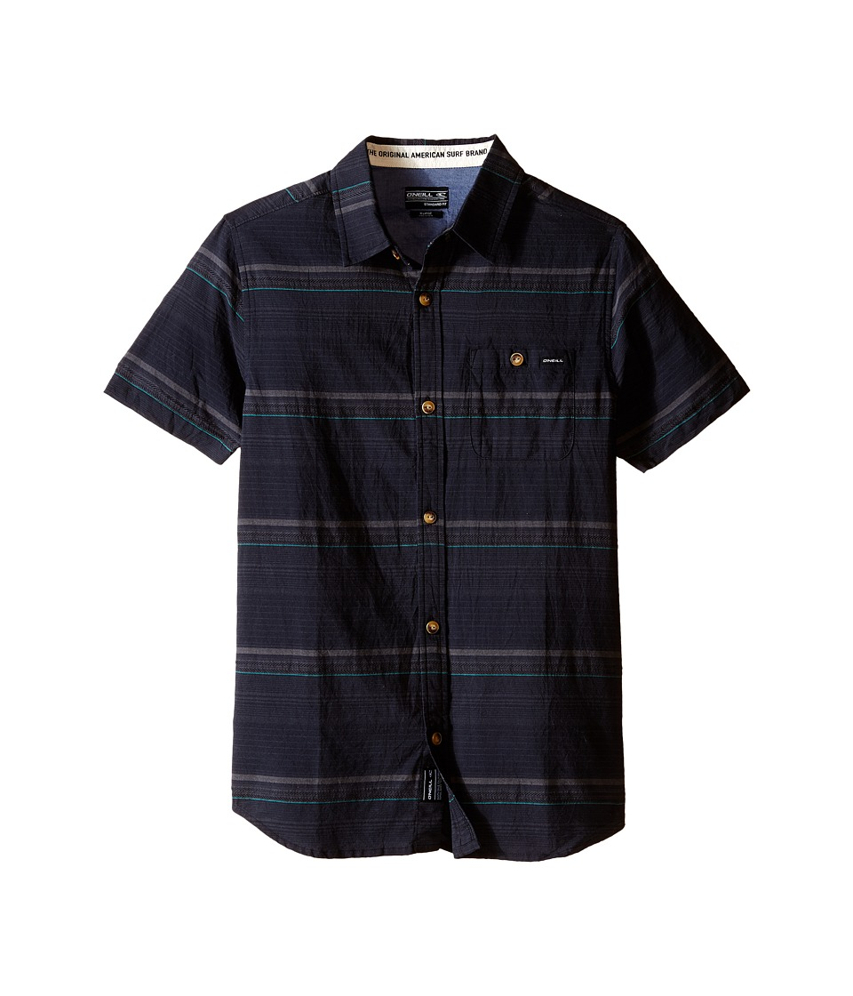 O'Neill Kids - Highnoon Short Sleeve Woven Top (Big Kids) (Black) Boy's Short Sleeve Button Up