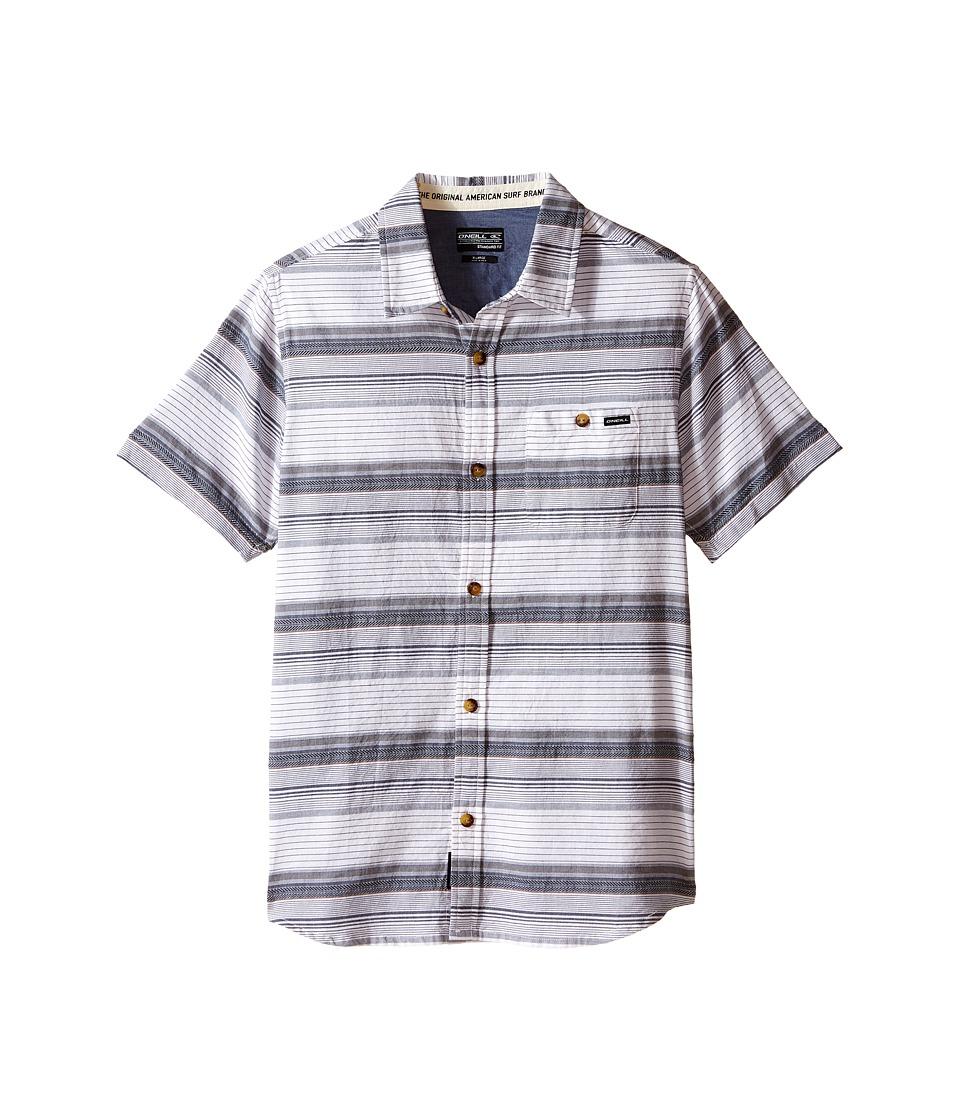 O'Neill Kids - Highnoon Short Sleeve Woven Top (Big Kids) (White) Boy's Short Sleeve Button Up