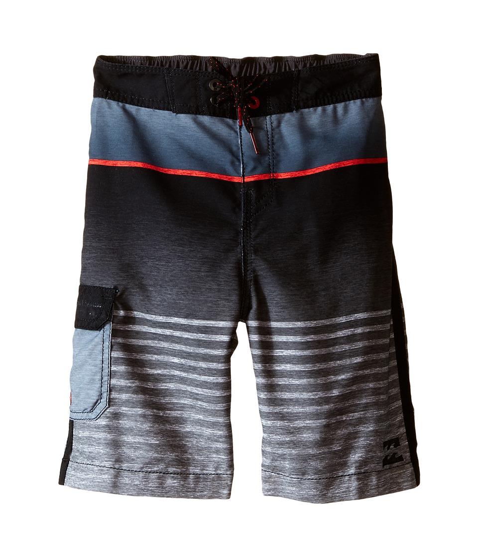 Billabong Kids - All Day Faded Boardshorts (Toddler/Little Kids) (Black) Boy's Swimwear