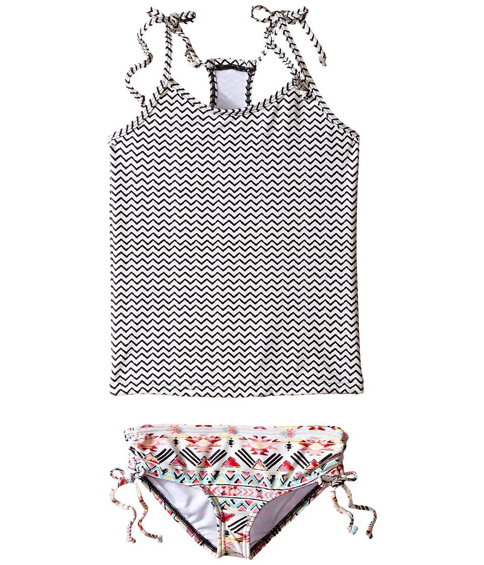 Billabong Kids - Gee Gee Geo Tankini Set (Little Kids/Big Kids) (Multi) Girl's Swimwear Sets