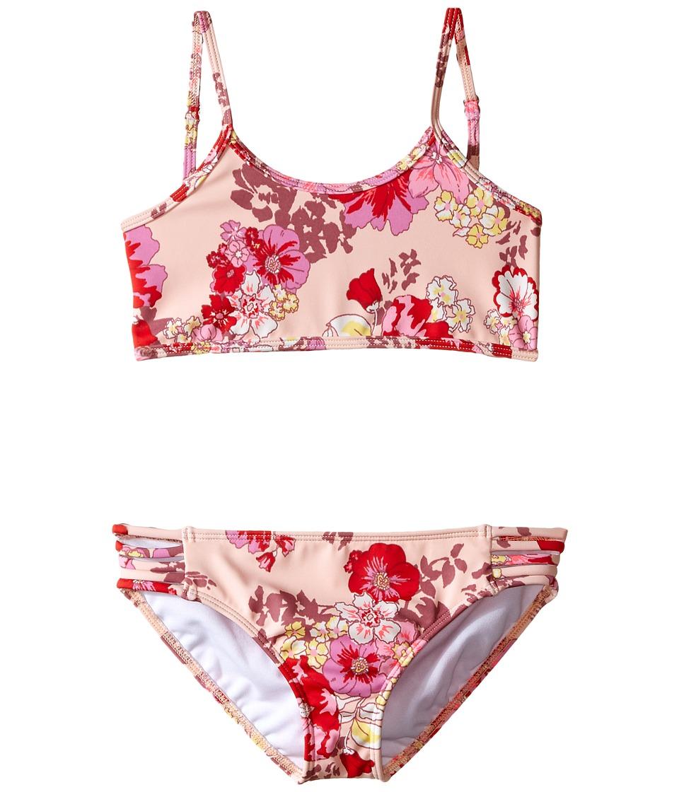 Billabong Kids - Bahama Mama Athletic Bra Set (Little Kids/Big Kids) (Blush Pink) Girl's Swimwear Sets