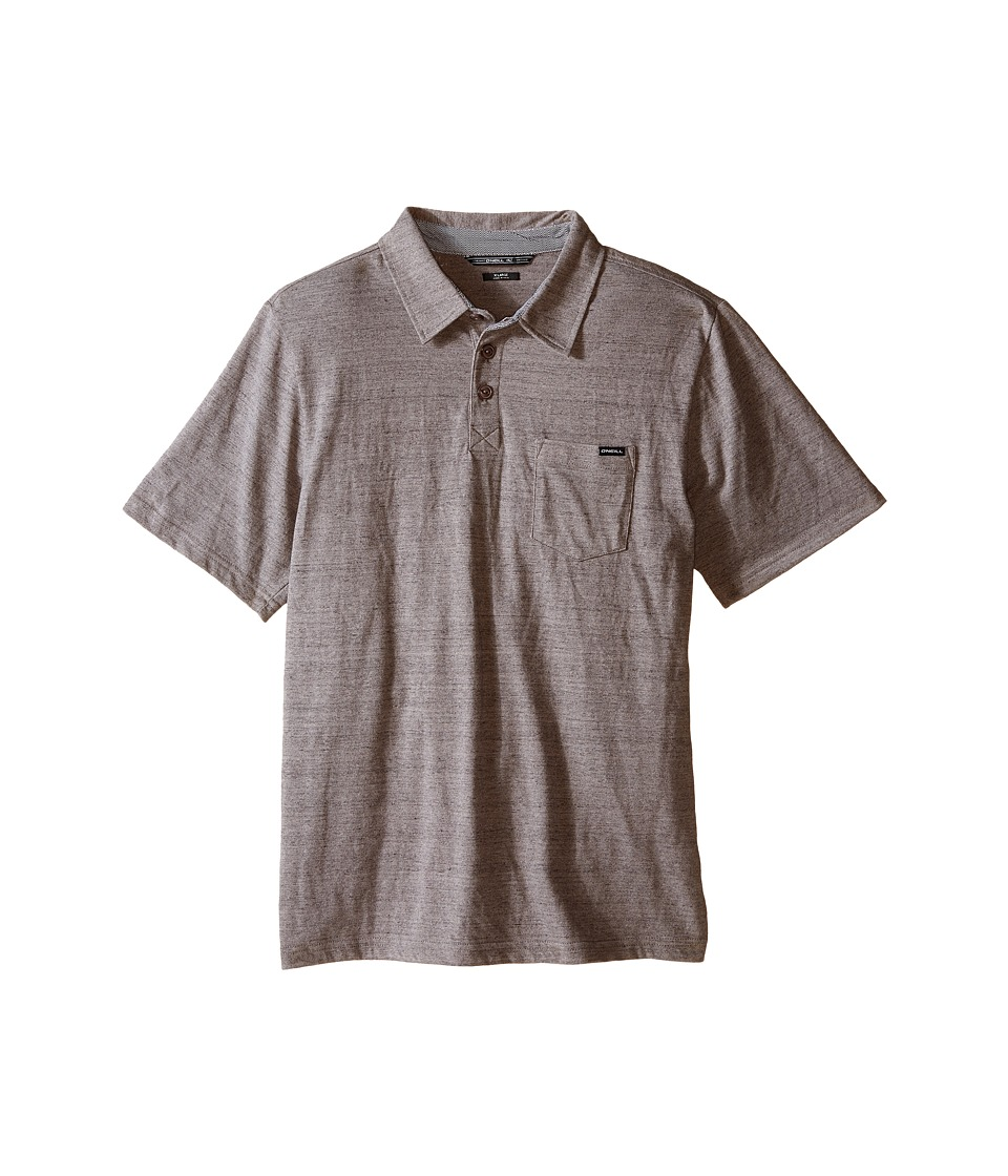 O'Neill Kids - The Bay Polo Short Sleeve Top (Big Kids) (Heather Grey) Boy's Short Sleeve Pullover