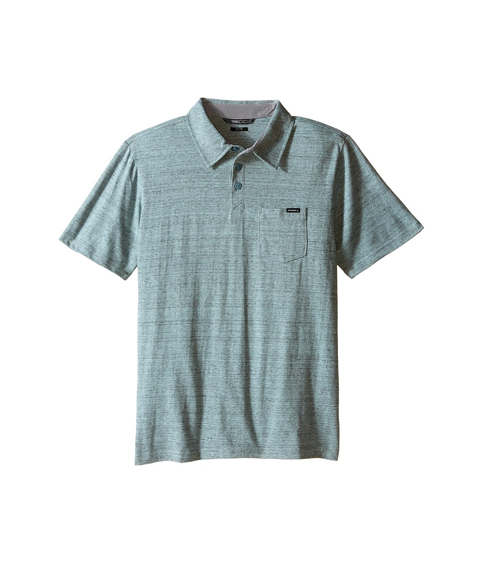 O'Neill Kids - The Bay Polo Short Sleeve Top (Big Kids) (Light Blue) Boy's Short Sleeve Pullover