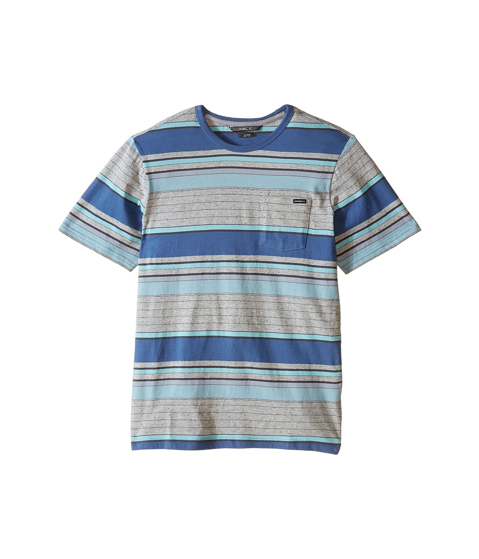 O'Neill Kids - Lewis Short Sleeve Crew Top (Big Kids) (Blue) Boy's Short Sleeve Pullover