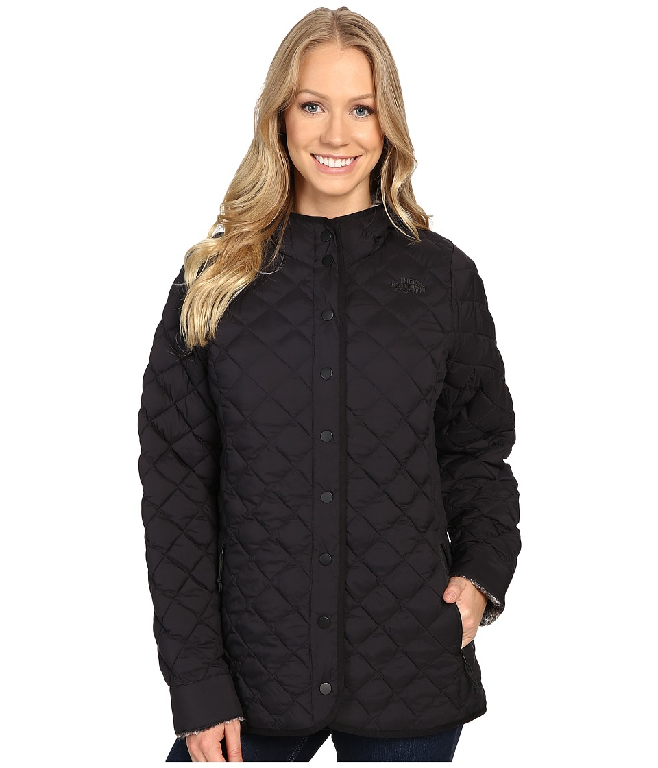 The North Face - ThermoBall Fur Hoodie (TNF Black/TNF Black Heather) Women's Coat