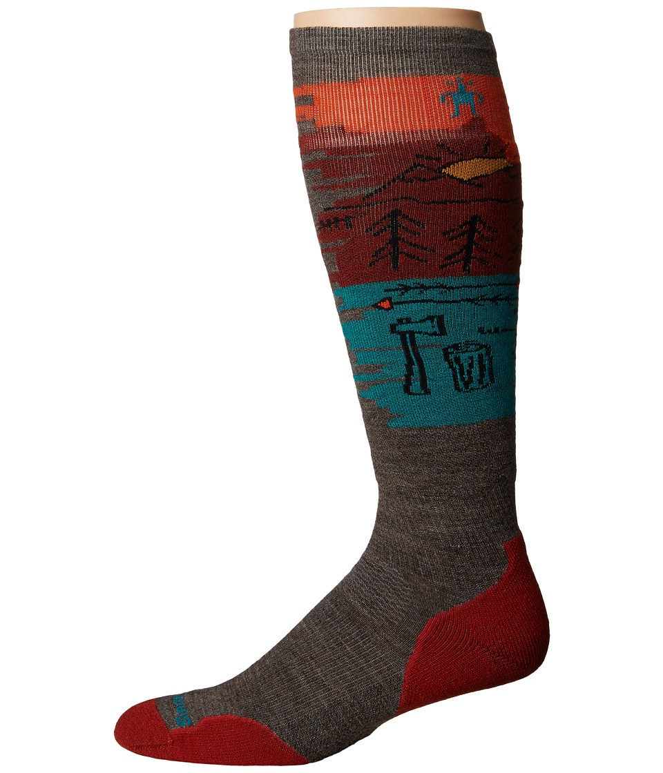 Smartwool - PhD Slopestyle Light Osorno (Taupe) Men's Knee High Socks Shoes