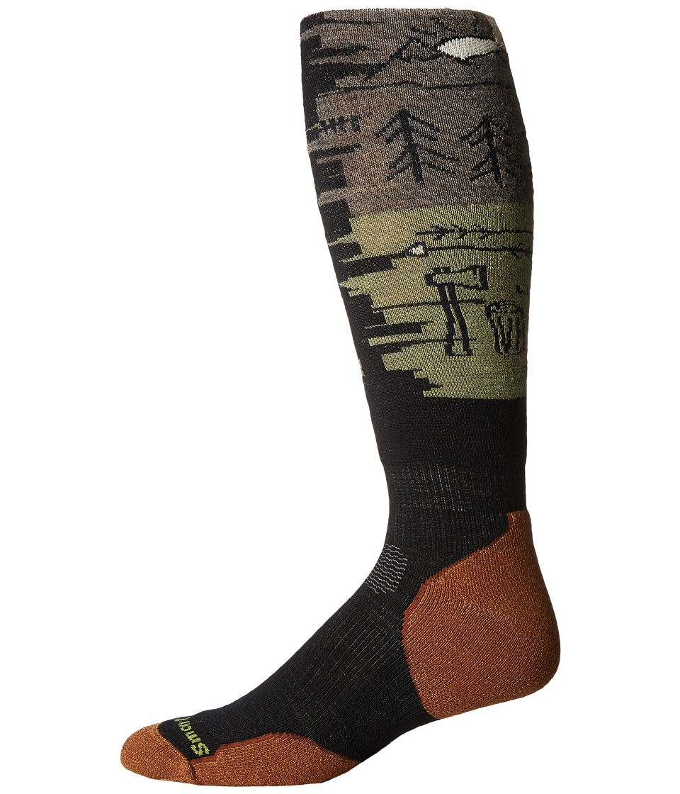 Smartwool - PhD Slopestyle Light Osorno (Black) Men's Knee High Socks Shoes