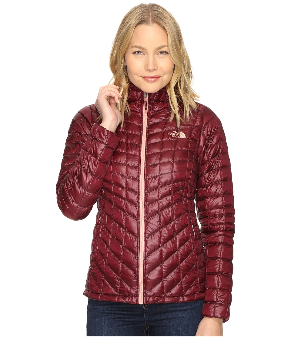 The North Face - ThermoBall Hoodie (Deep Garnet Red) Women's Coat