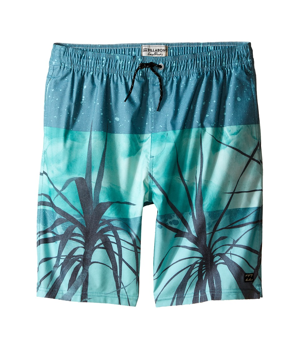Billabong Kids - Tribong Layback Boardshorts (Big Kids) (Mint) Boy's Swimwear