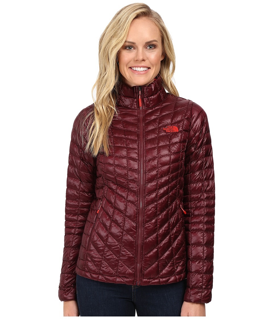 North Face ThermoBalltm Full Zip Jacket (Deep Garnet Red ...