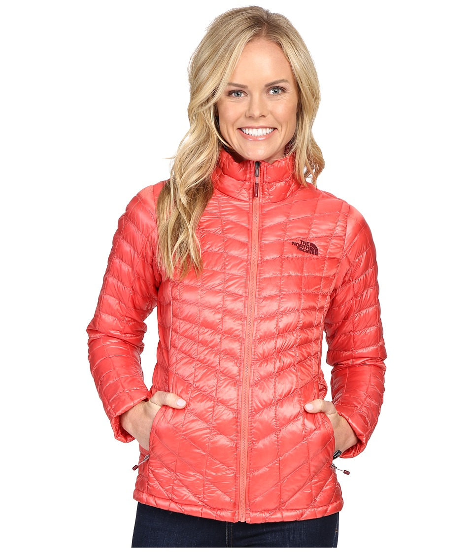 The North Face - ThermoBall Full Zip Jacket (Spiced Coral) Women's Coat