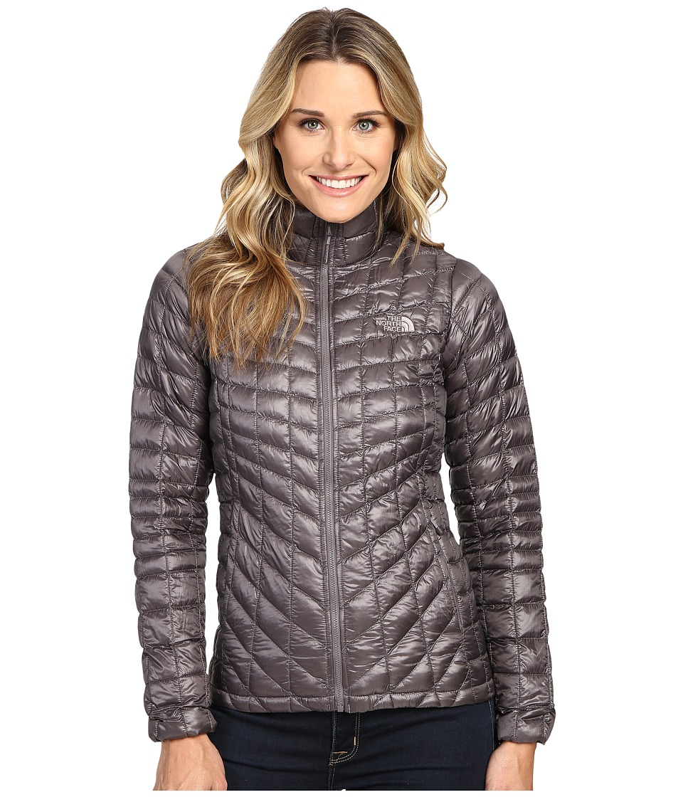 The North Face - ThermoBall Full Zip Jacket (Rabbit Grey/Rabbit Grey Swashed Print) Women's Coat