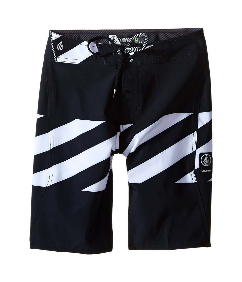 Volcom Kids - Macaw Mod Boardshorts (Big Kids) (Black) Boy's Swimwear