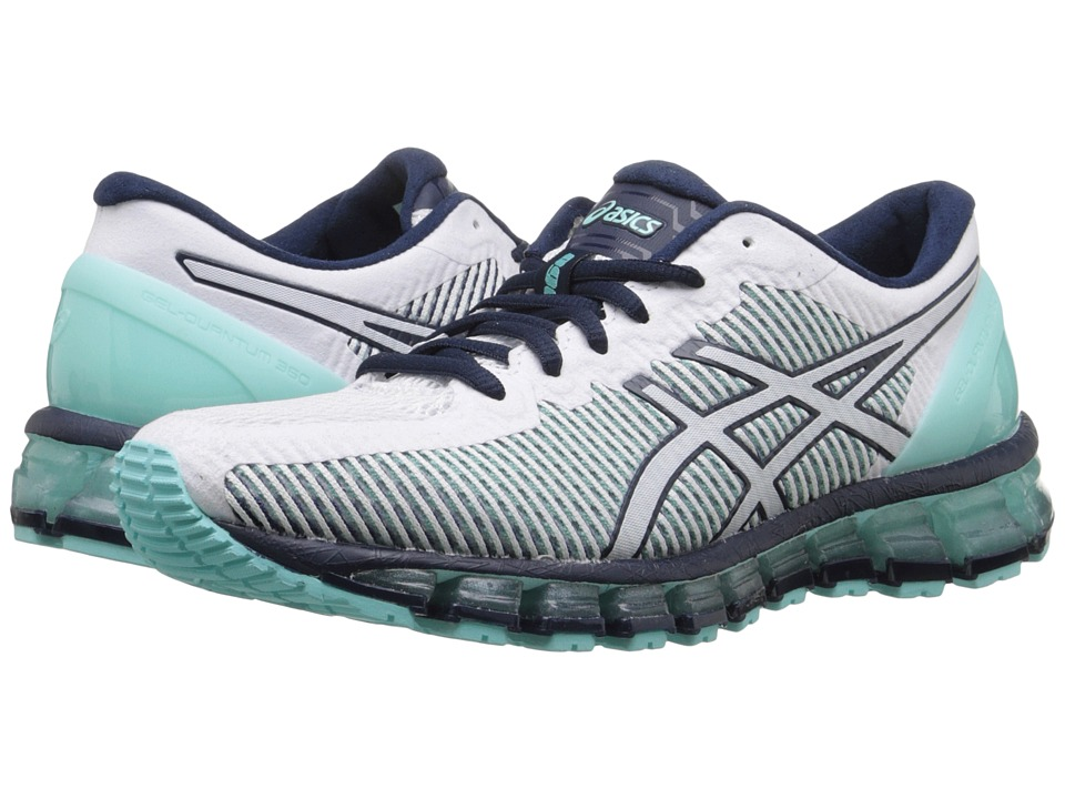 ASICS - Gel-Quantum 360 CM (Aruba Blue/White/Dark Navy) Women's Running Shoes