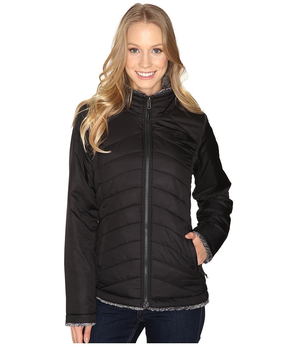 The North Face - Mossbud Swirl Reversible Jacket (TNF Black/TNF Black Tipped) Women's Coat