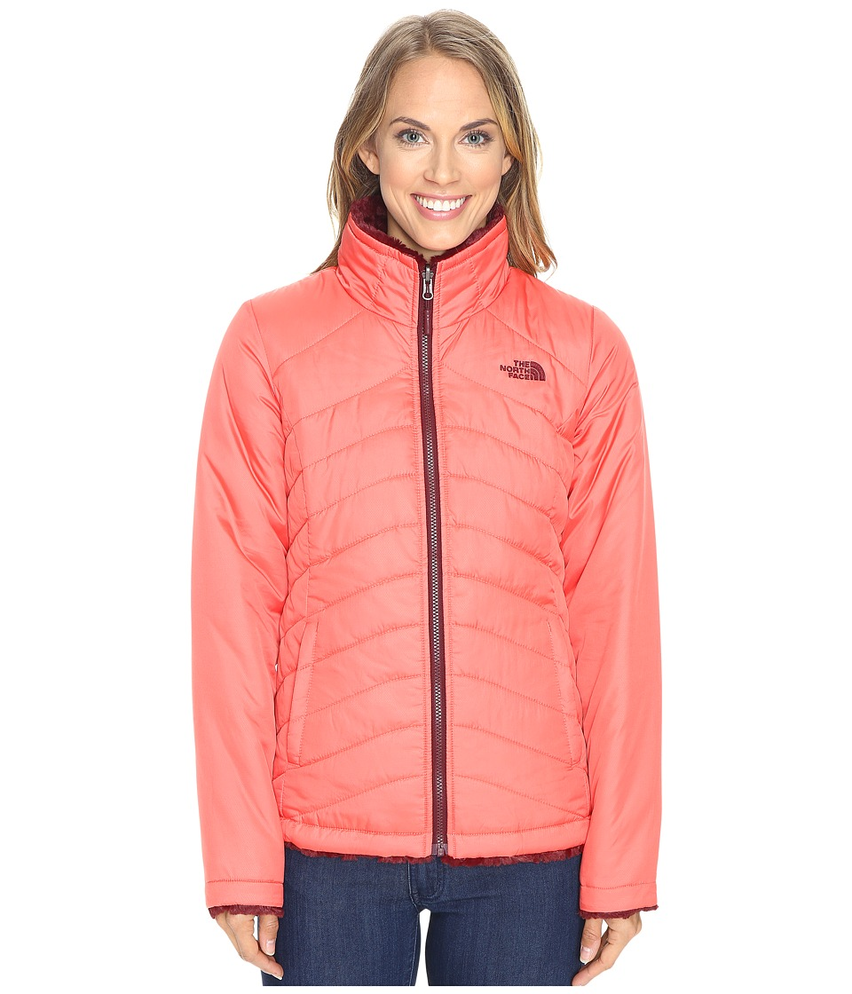 The North Face - Mossbud Swirl Reversible Jacket (Spiced Coral/Deep Garnet Red) Women's Coat