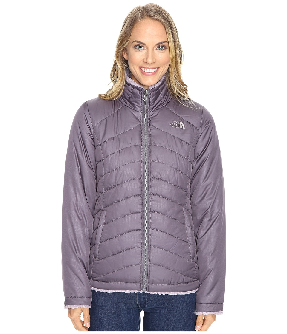 The North Face - Mossbud Swirl Reversible Jacket (Rabbit Grey/Quail Grey) Women's Coat