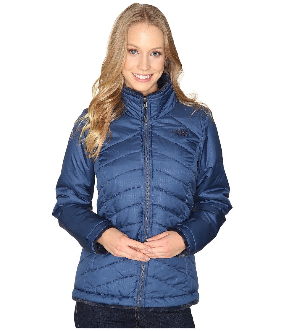 The North Face - Mossbud Swirl Reversible Jacket (Shady Blue/Cosmic Blue) Women's Coat