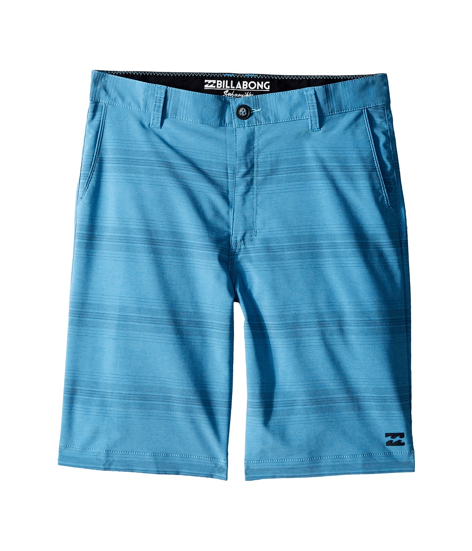 Billabong Kids - Crossfire X Stripe Walkshorts (Big Kids) (Blue) Boy's Shorts