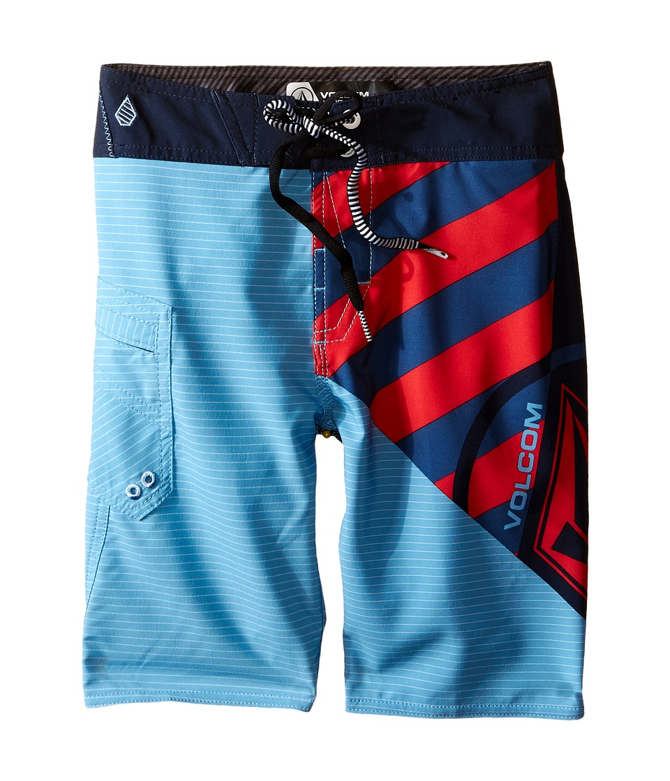 Volcom Kids - Liberate Lido Mod Boardshorts (Big Kids) (Navy) Boy's Swimwear