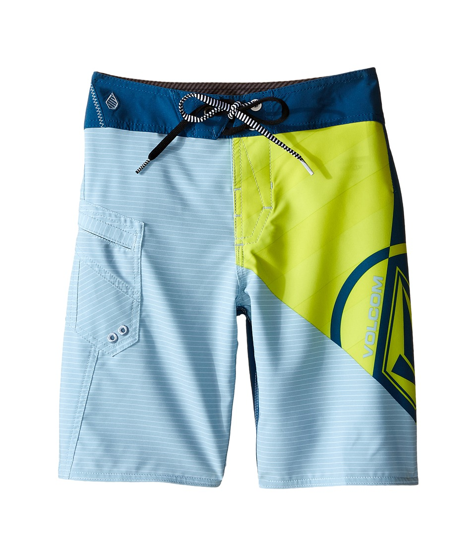 Volcom Kids - Liberate Lido Mod Boardshorts (Big Kids) (Lime) Boy's Swimwear