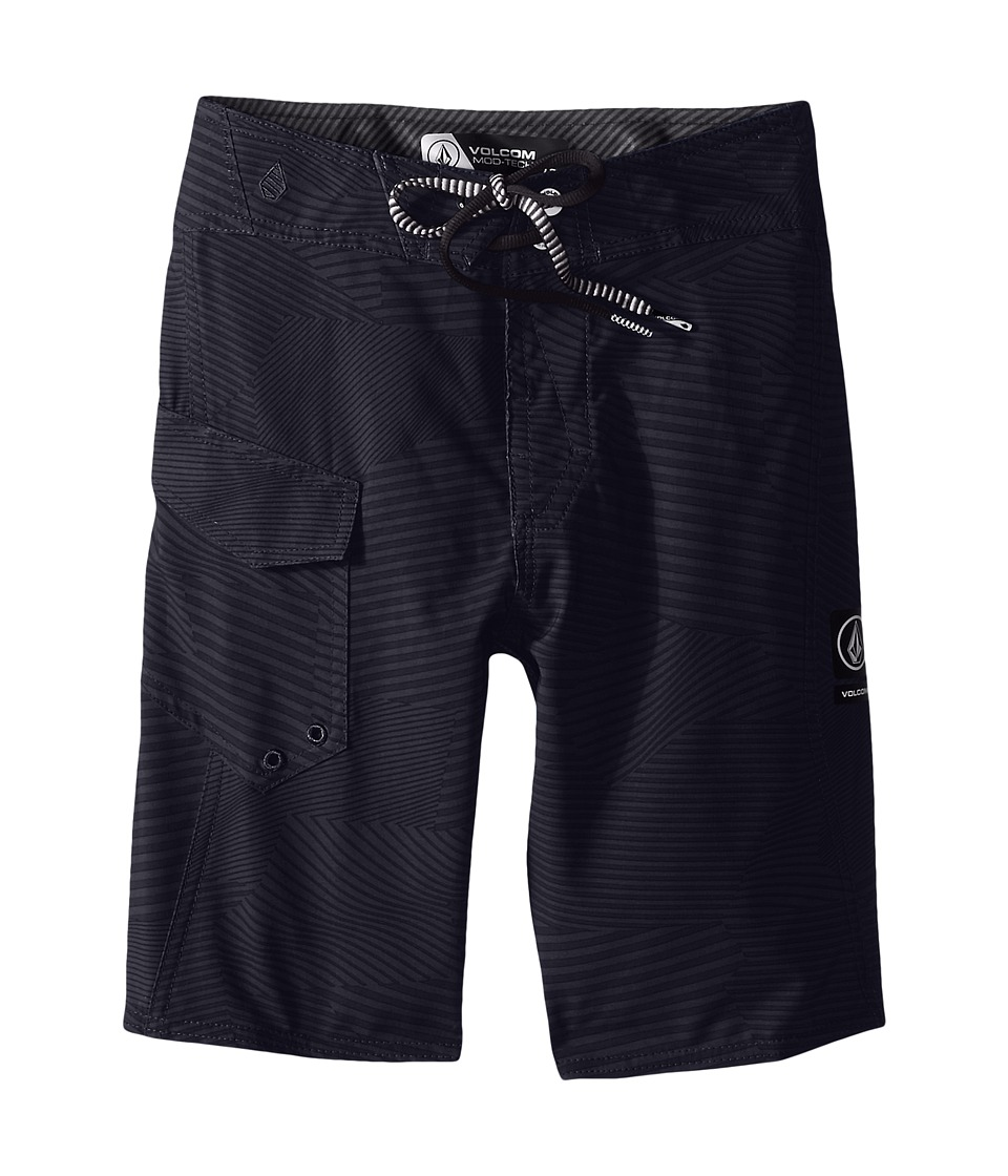 Volcom Kids - Stone Mod Boardshorts (Big Kids) (Black) Boy's Swimwear