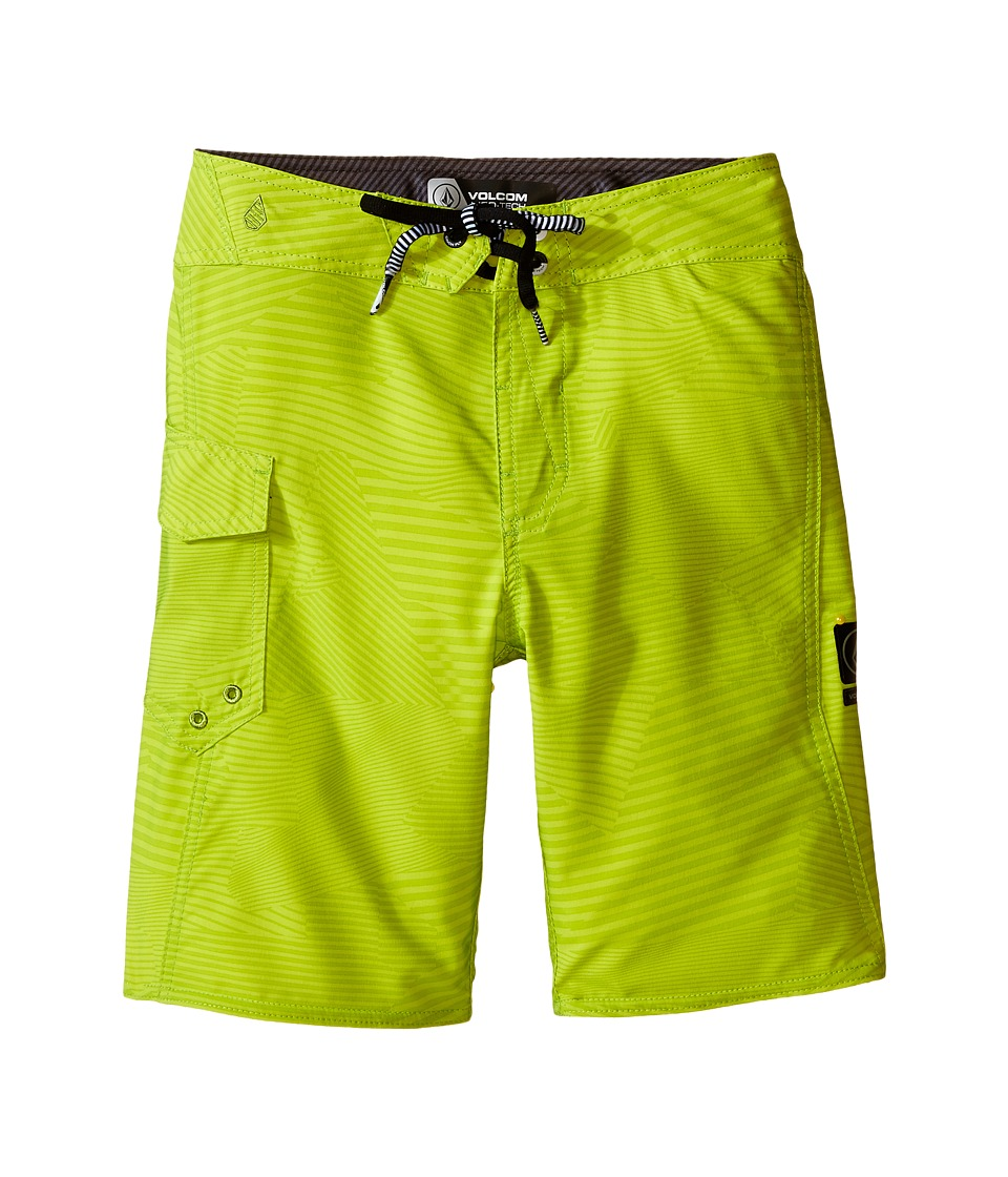 Volcom Kids - Stone Mod Boardshorts (Big Kids) (Lime) Boy's Swimwear