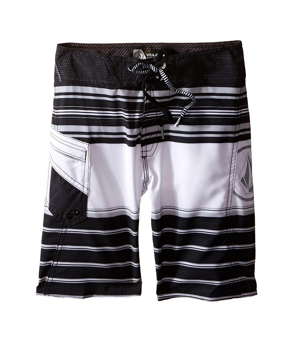 Volcom Kids - Lido Liner Mod Boardshorts (Big Kids) (Black) Boy's Swimwear