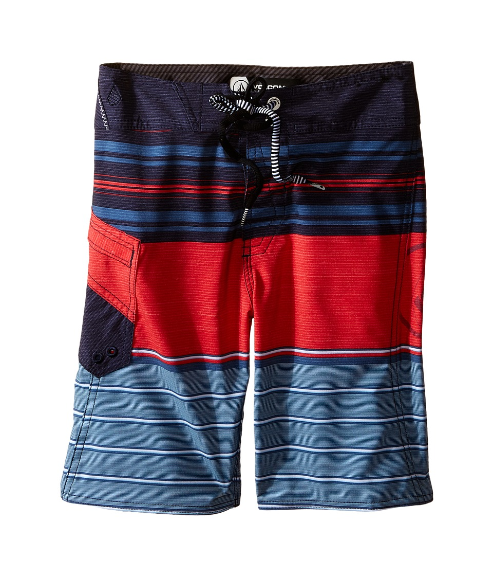 Volcom Kids - Lido Liner Mod Boardshorts (Big Kids) (Smokey Blue) Boy's Swimwear