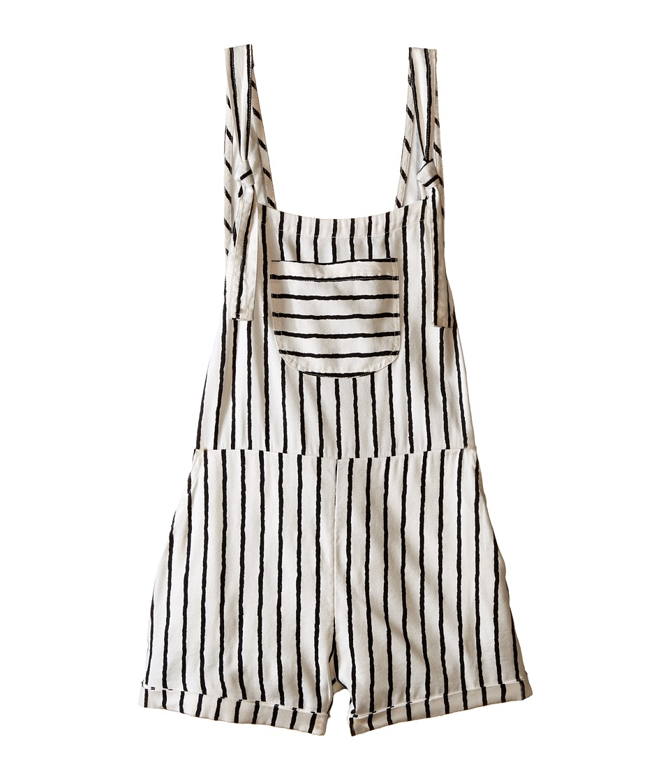 Billabong Kids - Washed Ashore Overalls (Little Kids/Big Kids) (Black/White) Girl's Overalls One Piece